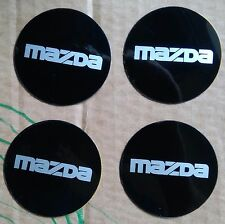 MAZDA WHEEL CENTRE BADGE INSERTS MX5 EUNOS RX 7 8 2 6 QUALITY OLD STOCK 49 MM X4