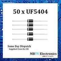50 x Vishay UF5404 Ultrafast Plastic Rectifier Diode 400V 3A 1V 150A 150 °C