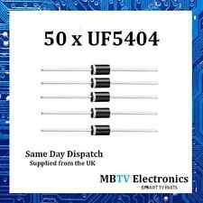 50 x Vishay uf5404 ultraveloci Diodo RADDRIZZATORE IN PLASTICA 200v 3a 1v 150a 150 ° C
