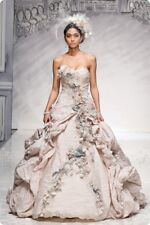 "IAN STUART ""GAINSBOROUGH"" WEDDING GOWN BRIDAL BRIDE DRESS ~ RARE ~Sz 8 Victorian"