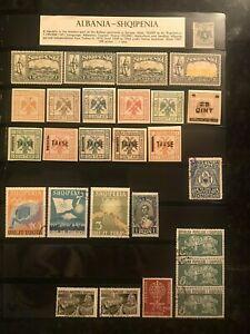 STAMPS ALBANIA MINT & USED 1920+  #0837