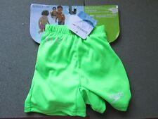 SPEEDO Swim Diaper Swimming BOYS Shorts S Small 0-6 Months GREEN BRAND NEW