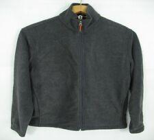 Woolrich John Rich & Bros Mens Full Zip Fleece Pullover Gray Jacket Large