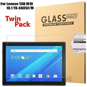 "2 x Tempered Glass Screen Protector For Lenovo TAB M10 TB-X505F / TB-X605F 10.1"""