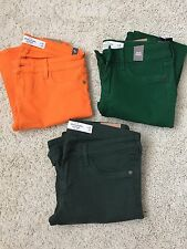 NWT Abercrombie & Fitch Jeggings Jeans In Orange/Green/Dark Green Size 24 or 26