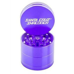 "Small 1.6"" Purple Santa Cruz Shredder Aluminum Herb Grinder 4 Piece Grip"
