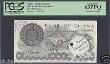 Ghana 1000 Cedis ND(1965) P9ap Specimen  Proof with watermark Uncirculated