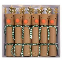Small Reindeer Crackers, Christmas crackers Rudolf crackers 6 Meri Meri crackers