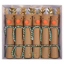 Small Reindeer Crackers, Christmas crackers Rudolf crackers 6 Meri Meri crackers