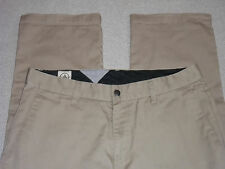 VOLCOM PANTS CHINO ~FRICKIN CHINO PANTS~BEIGE KHAKI MEN'S 32 ~GREAT~