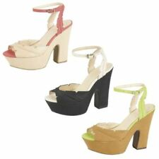 Block Heel Casual Strappy Heels for Women