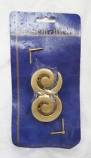 Inspiration Brass Curtain Tie Back Hooks - Hold Backs - BNIB