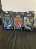 MARVEL LEGENDS- MR FANTASTIC, HUMAN TORCH & SILVER SURFER-  WALGREENS EXCLUSIVS