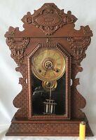 Sessions Clock Company Mantel Shelf Antique Clock Pendulum Key Wind