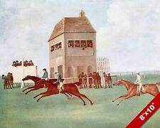 1900'S VINTAGE HORSE JOCKEY RACE TRACK RACING ART PAINTING REAL CANVAS PRINT