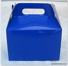 Navy Blue Party Supplies Boxes Birthday Decoration Gable Loots x12 Goody Bag New
