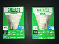LOT OF 2 GREENLITE 15W/EXLR30/DIM Dimmable 15W/65W BR30  CFL Flood SHIPS FAST!