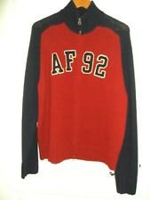 Men's XL Abercrombie Fitch Zippered Wool Cardigan Sweater