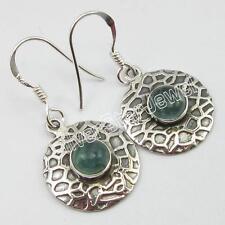 925 Sterling Silver GENUINE APATITE Pierced Earrings 1 1/4 Inch ! JEWELRY
