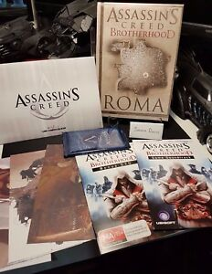 Assassin's Creed Brotherhood Codex Edition Collectors Items Map lithographs DVD