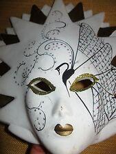 Elegante maschera tipo Veneziana in Ceramica - decorativa - anni '70