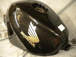 HONDA VFR 800 PETROL TANK FUEL TANK  GOOD CONDITION BLACK SMALL DENT