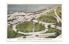 NYC NY Henry Hudson Parkway Vtg 1948 Folkard Folding PC