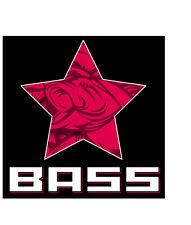 Bass Propaganda Star Fishing Vinyl Decal / Sticker Pole, Tackle Box, Cooler, Rod