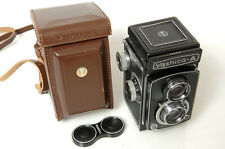 *MINTY*   YASHICA A TLR 6X6CM CAMERA W/ ORIG.CASE & CAP