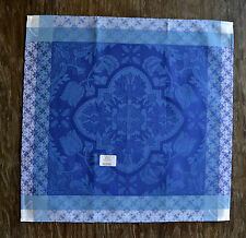 Le Jacquard Francais Azulejos Blue China Cotton French Dinner Napkins - Set of 4