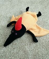 "PTERODACTYL Plush Puppet Caltoy 13"" Orange Black & Red"