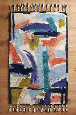 Anthropologie Broad Brushstroke Tufted Wool Rug-5 x 8