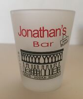 Shot Glass Jonathan's Bar Frosted