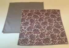 Paisley And Solid Grey Microfiber Cleaning Clothes