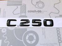 Mercedes C250 Rear Boot Badge Emblem Decals New Style Gloss Black