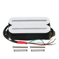 NEW White Hot Rail Electric Guitar Humbucker Pickup Double Coil Pickup 15-16K