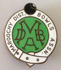 Maroochy District Bowling Club Badge Pin Vintage Lawn Bowls (L25)