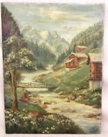 Original Mountain Landscape Oil Painting Mid Century South African Kent Cottrell
