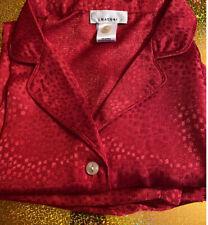 NEW! NATORI VIBRANT RED SILKY JACQUARD PAJAMAS/ $180/ MEDIUM