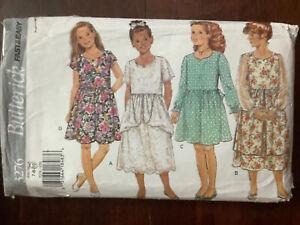 Vintage Butterick Girls Dress Pattern 3276  Size 7-10