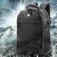 "Swissgear 17"" Laptop Notebook Bag Tablet Padded Travel Backpack Rucksack Black"