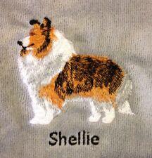 Shetland Sheepdog, Hand Towel, Embroidered, Custom, Personalized, Dog