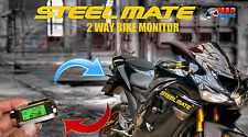 Steelmate 2 Way Motorcycle Pager / Monitor Alarm Security System With LCD Fob