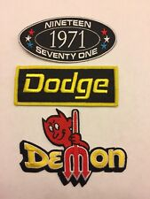 1971 DODGE DEMON SEW/IRON ON PATCH EMBROIDERED EMBLEM HEMI MOPAR CAR