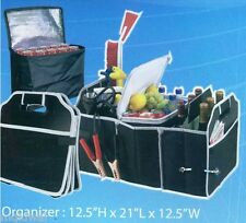 Car/Truck/SUV/Van/Trunk Organizer Folding Collapsible Storage With Cooler Insert