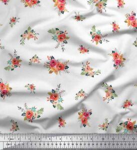 Soimoi Fabric Leaves & Peony Floral Print Fabric by the Yard - FL-283J