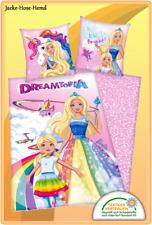 Barbie Dreamtopia Bettwäsche Einhorn Feen Nixen Baumwolle Gr. 135x200 cm NEU