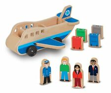 Melissa & Doug - Wooden Airplane Play Set with 4 Passengers & Suitcases
