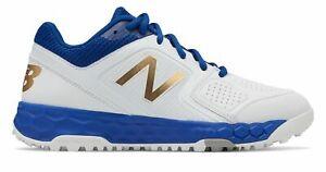 New Balance Fresh Foam Turf Velo1 Softball Womens Shoes Blue with White