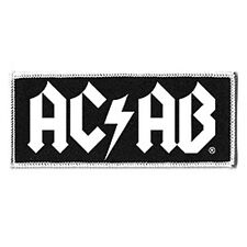 Aufnäher AC/AB bestickt Bügel Patch Punk Hool Fight Polizei NEU move2be